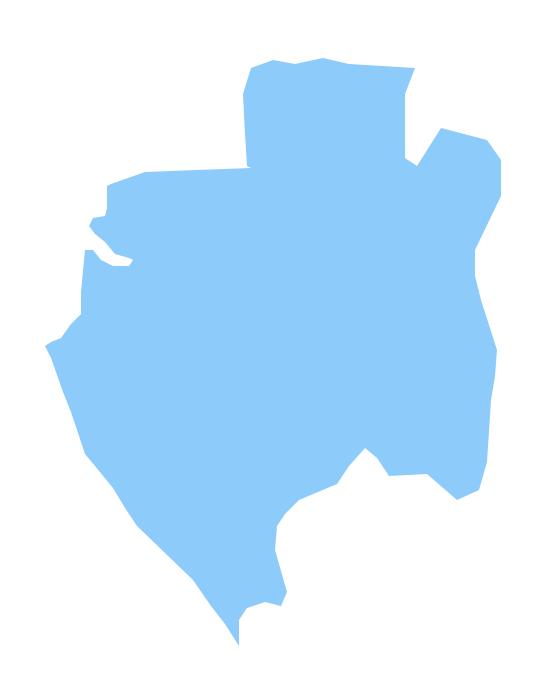 Geo Map Africa Gabon