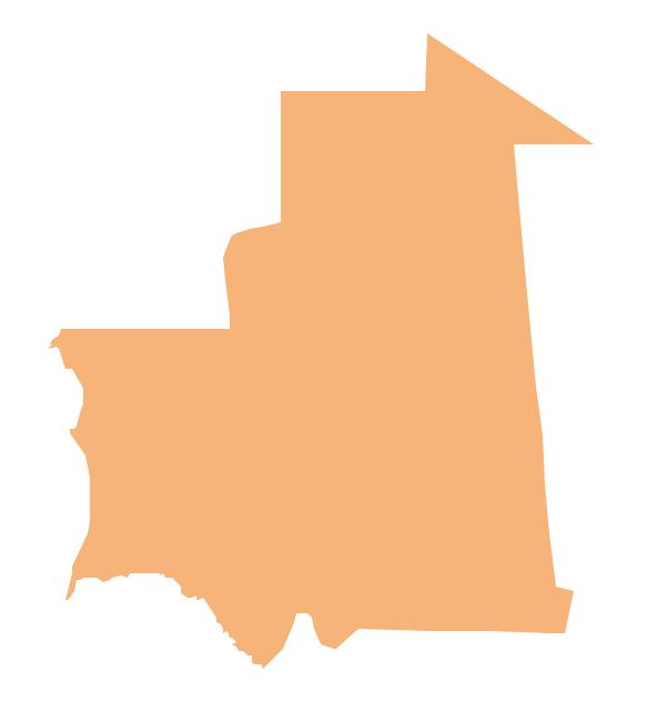 Geo Map - Africa - Mauritania