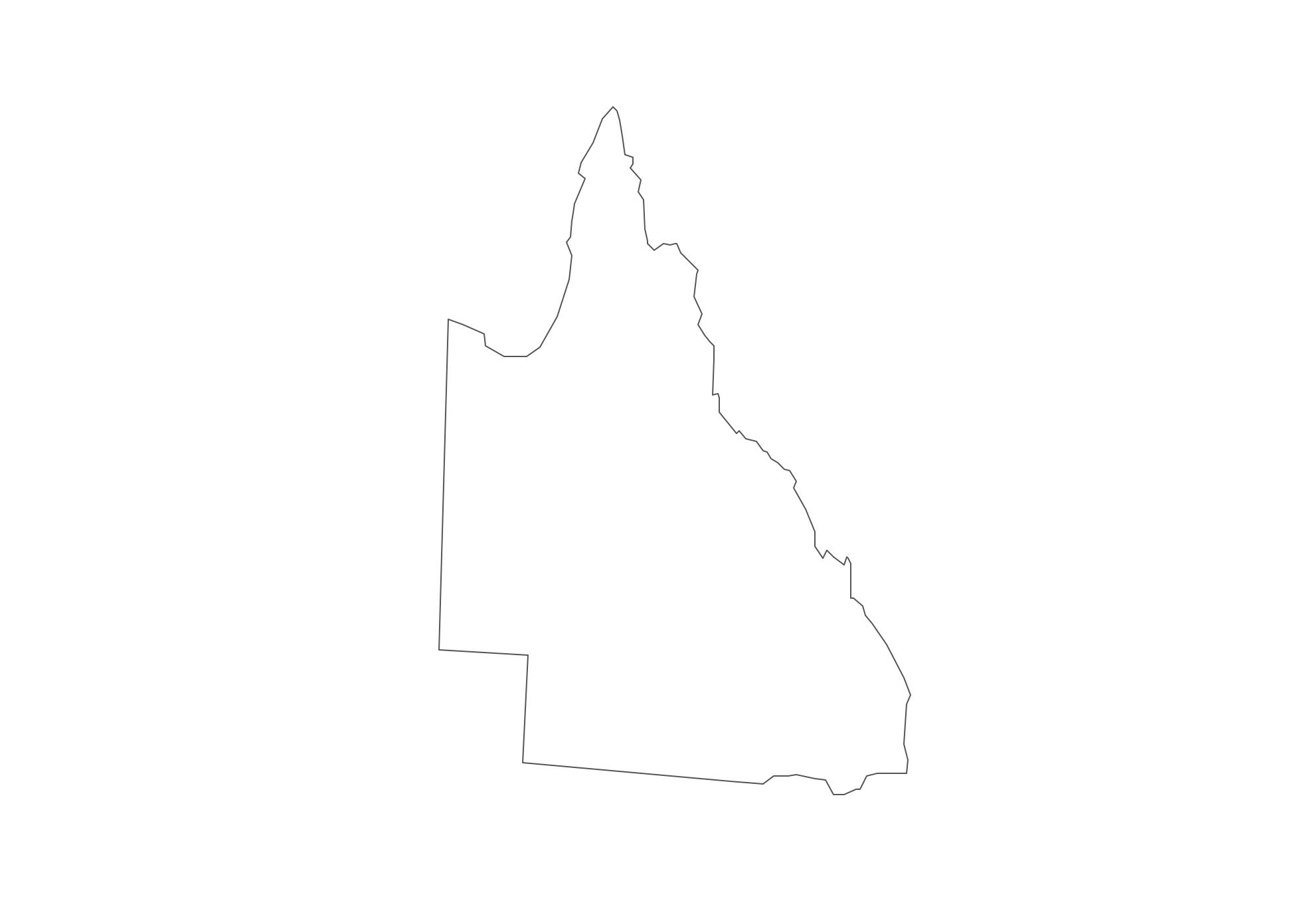 Geo Map - Australia - Qeensland Contour
