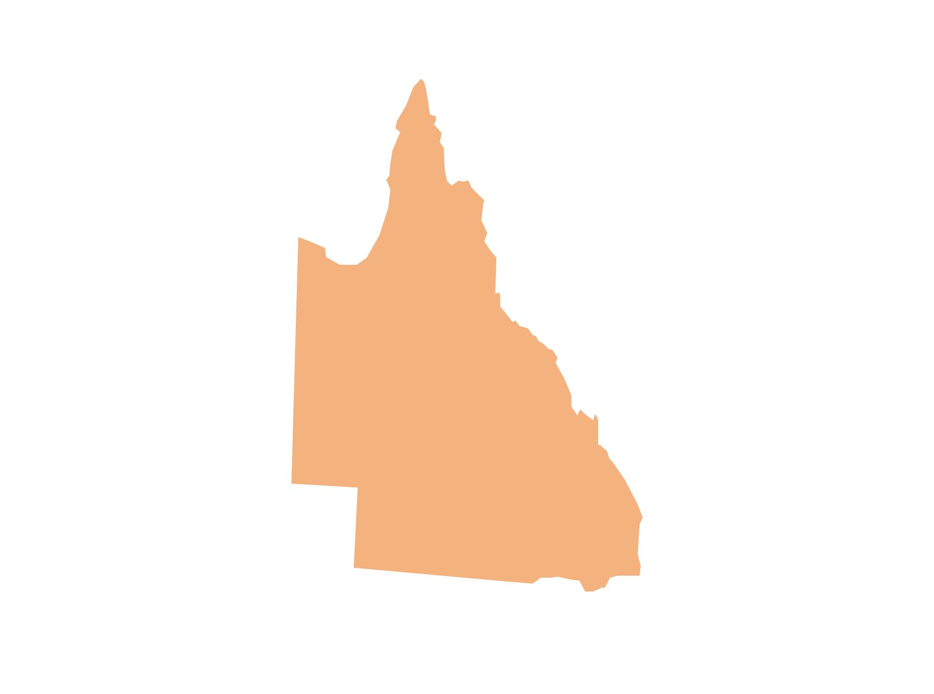 Geo Map - Australia - Qeensland