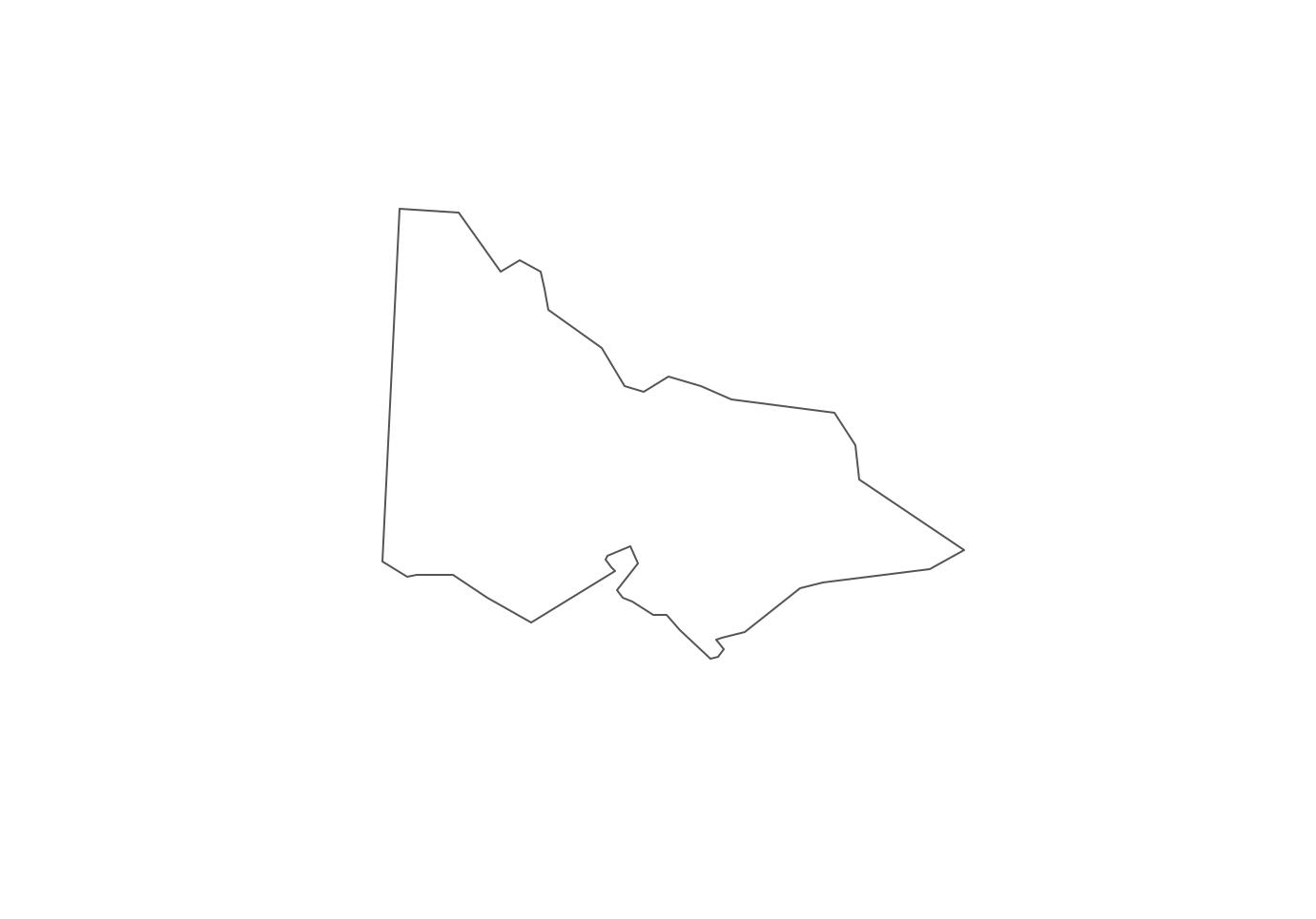 Geo Map - Australia - Victoria Contour