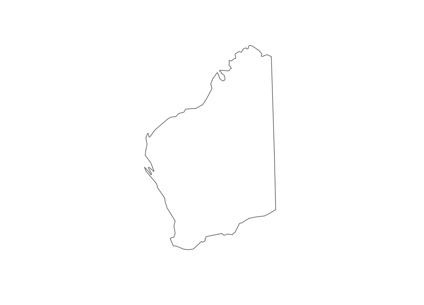 how to draw a simple map of australia