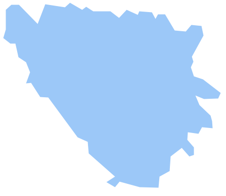Geo Map - Europe - Bosnia and Herzegovina *