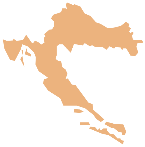 Geo Map - Europe - Croatia