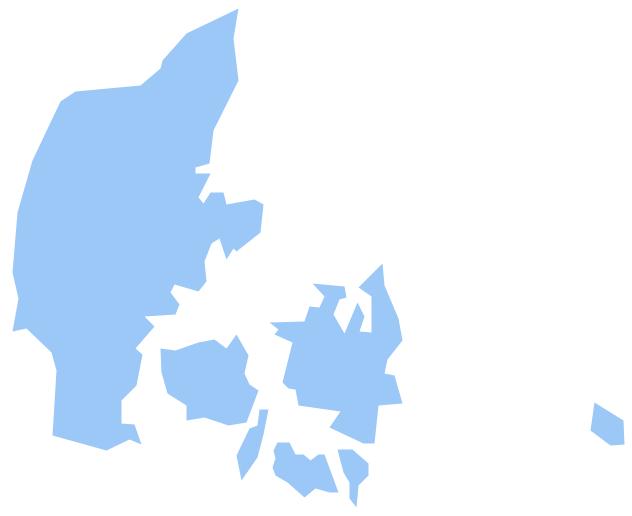 Geo Map - Europe - Denmark *