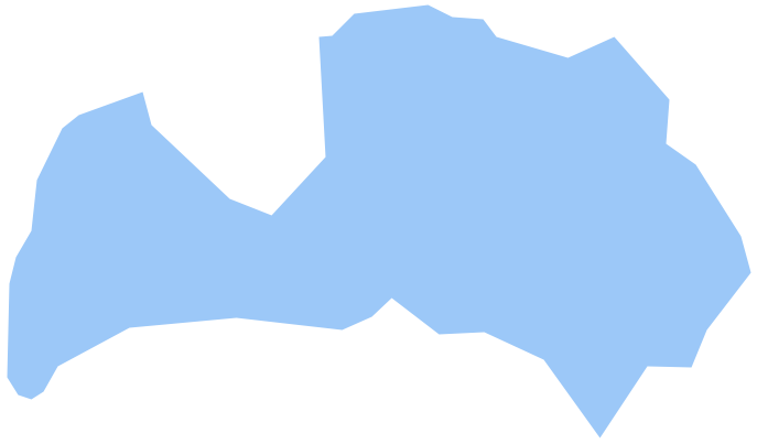 Geo Map - Europe - Latvia *