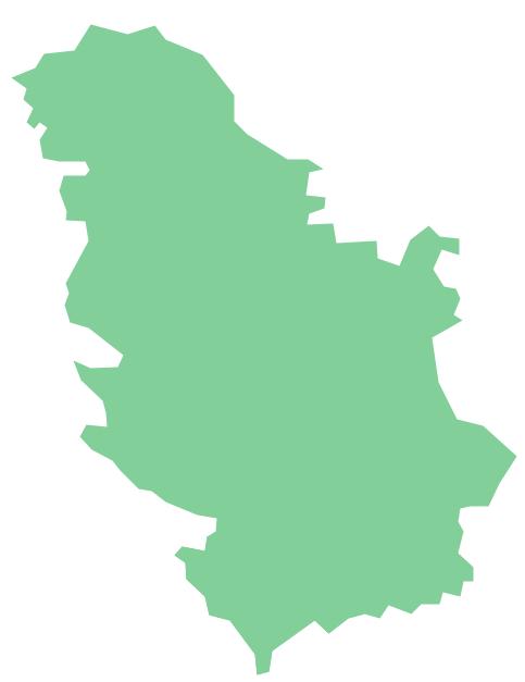 Geo Map - Europe - Serbia *