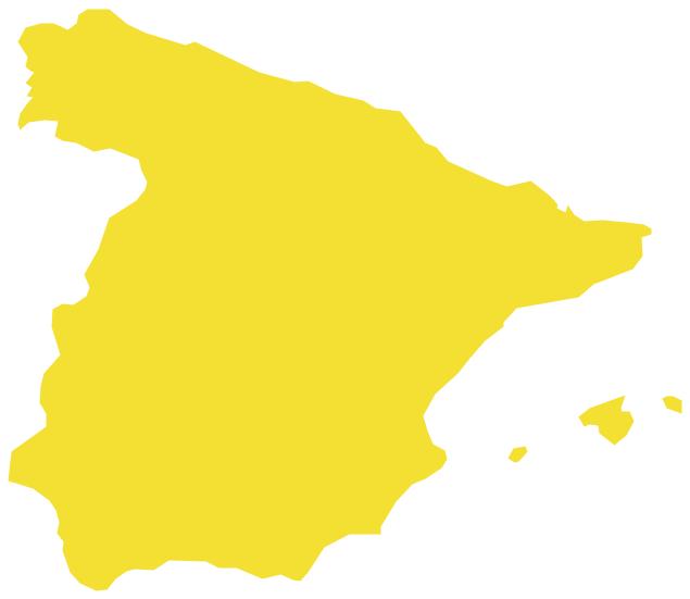 Spain Map Of Europe.Geo Map Europe Spain
