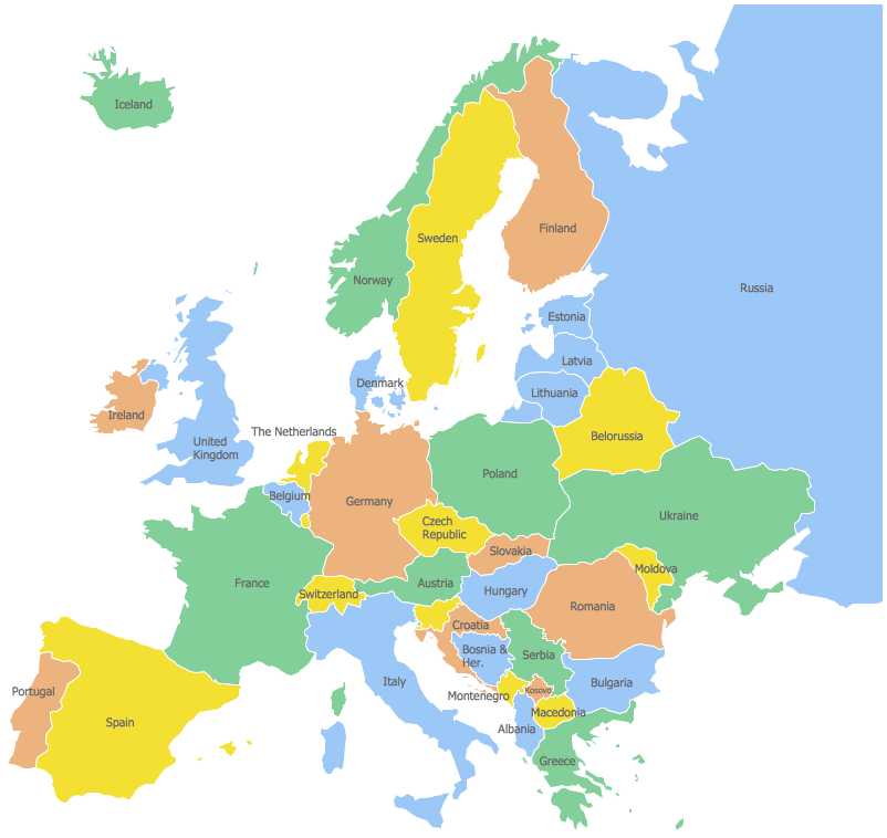 Geo Map Europe Czech Republic