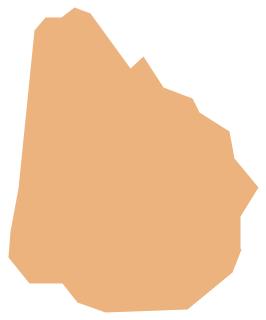 Geo Map - South America - Uruguay