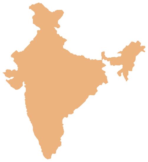 Geo Map - Asia - India