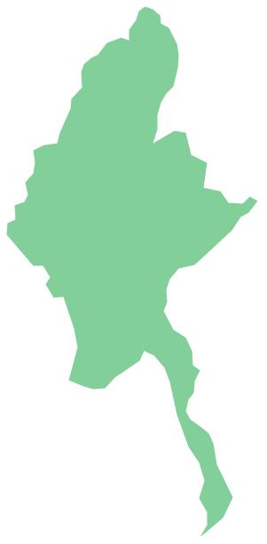 Geo Map - Asia - Myanmar