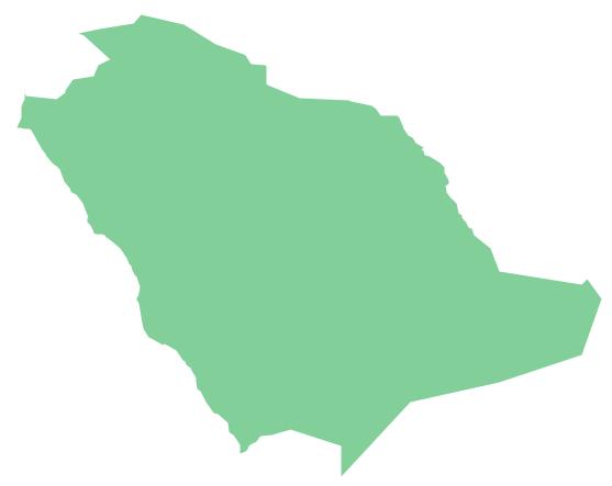 Geo Map - Asia - Saudi Arabia