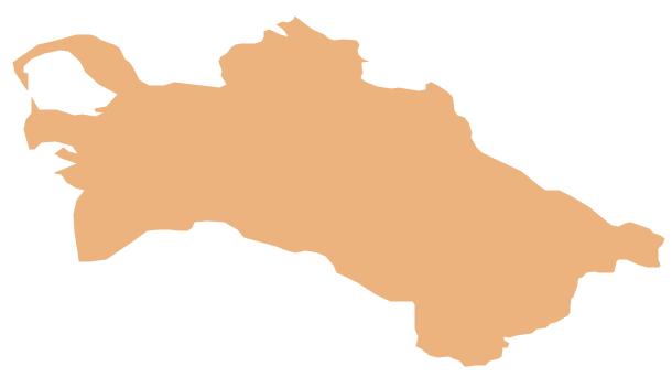 Geo Map - Asia - Turkmenistan