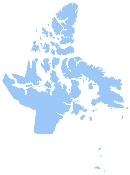Geo Map - Canada - Nunavut *