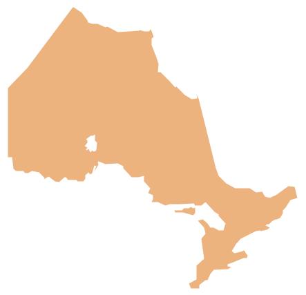 Geo Map  Canada  Ontario  North America  Vector stencils