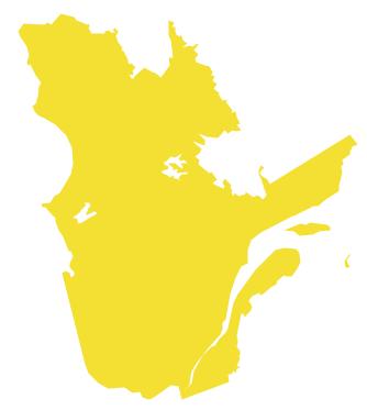 Geo Map - Canada - Quebec *