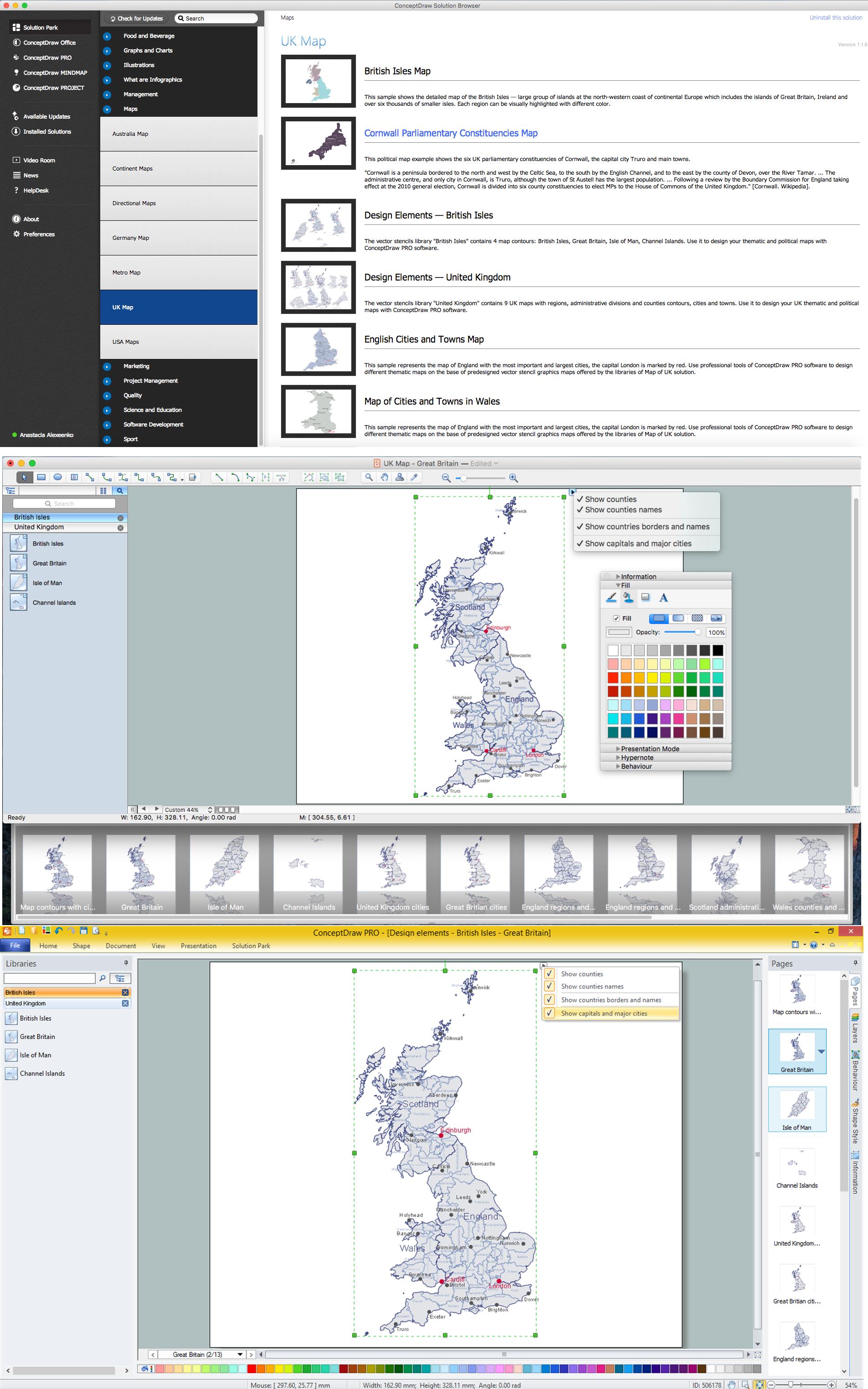 Map of UK — Great Britain