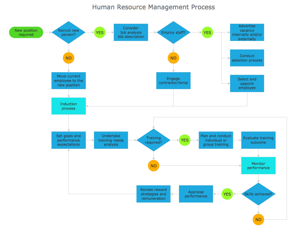 Process Flowchart Sample   Human Resource Management Process  Human Resource Examples