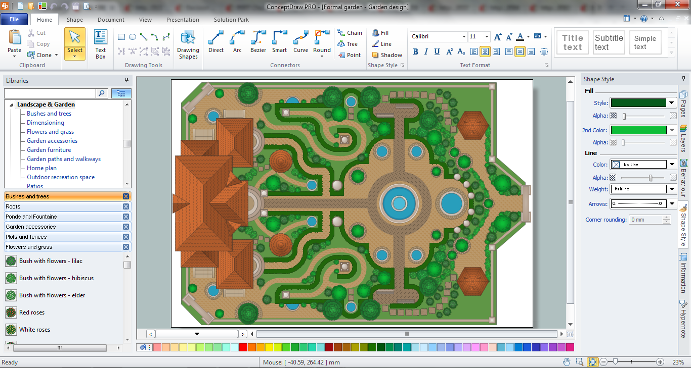 How to design landscape for Site plan design software