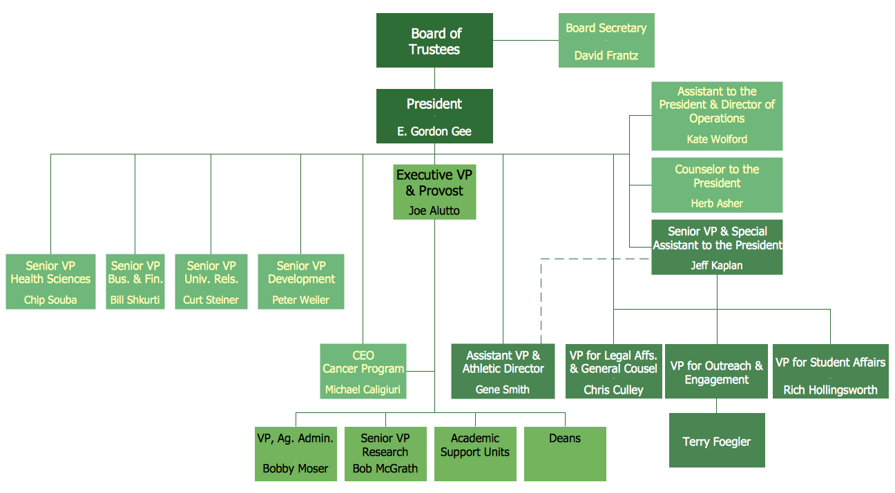 Example of Organizational Chart *
