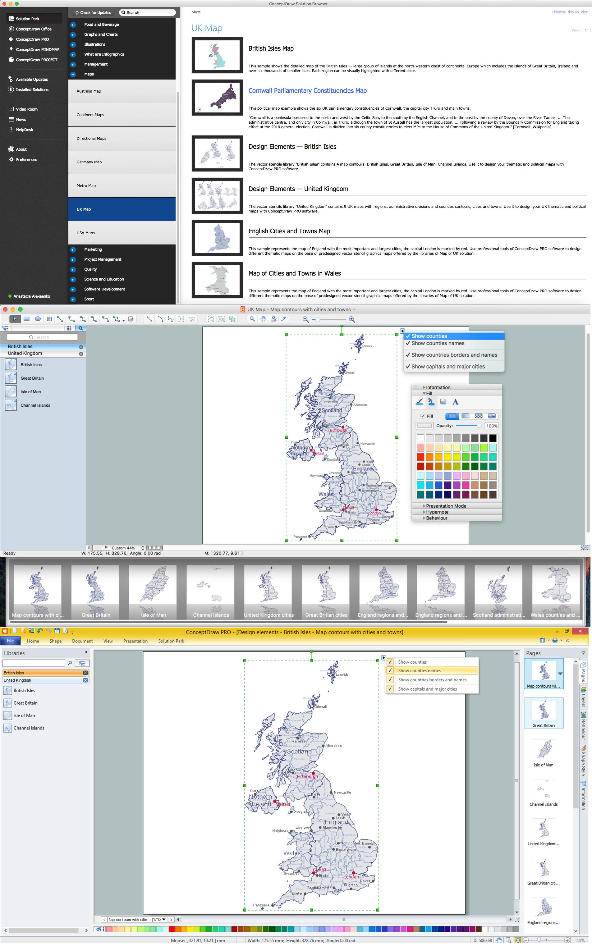 Contours Map of UK