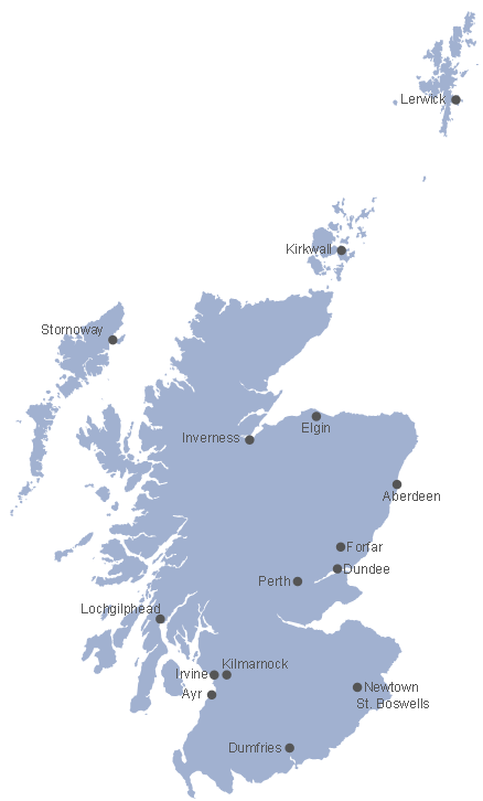 Map of Scotland *