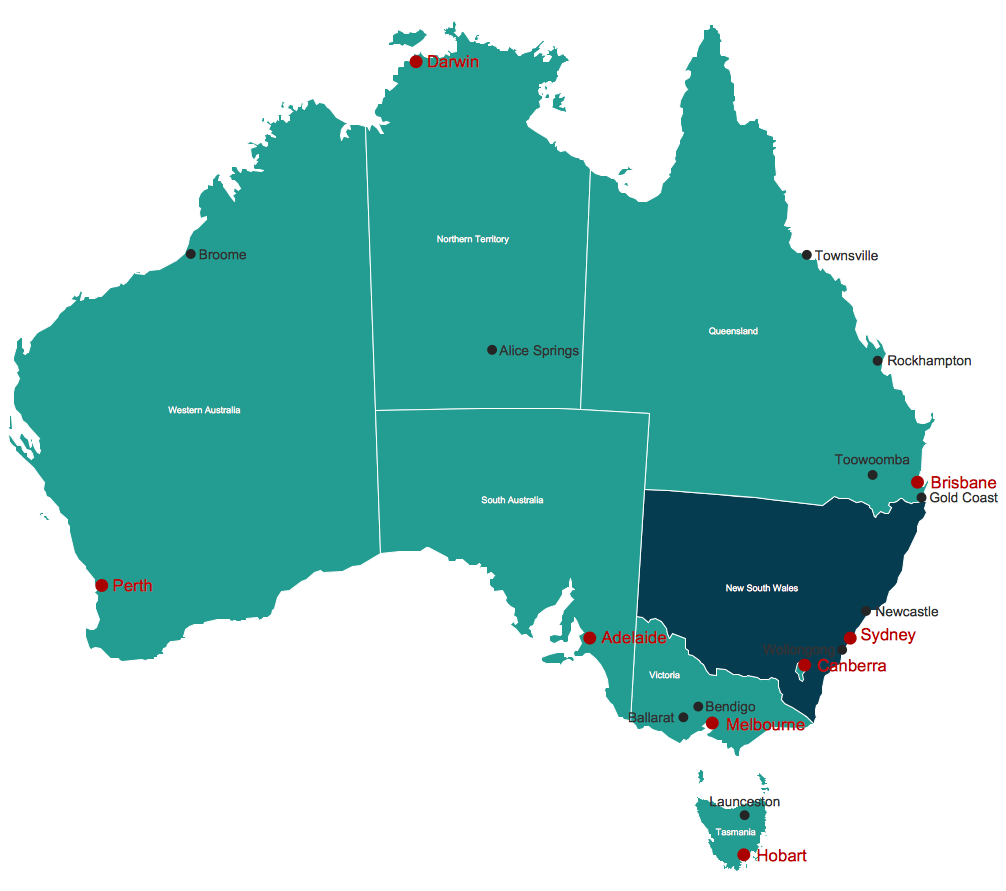 Australia Map Geo Map Australia New Zealand – Map of Australlia