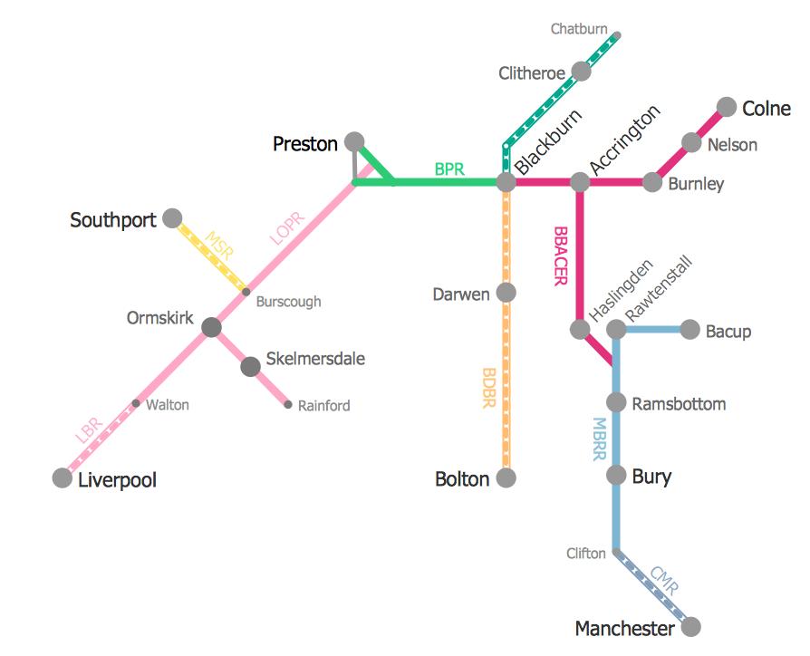 Metro Train Map *