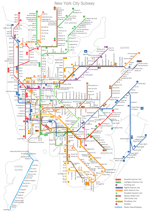 Nyc Subway Map Over Street Map.Mta Subway Map