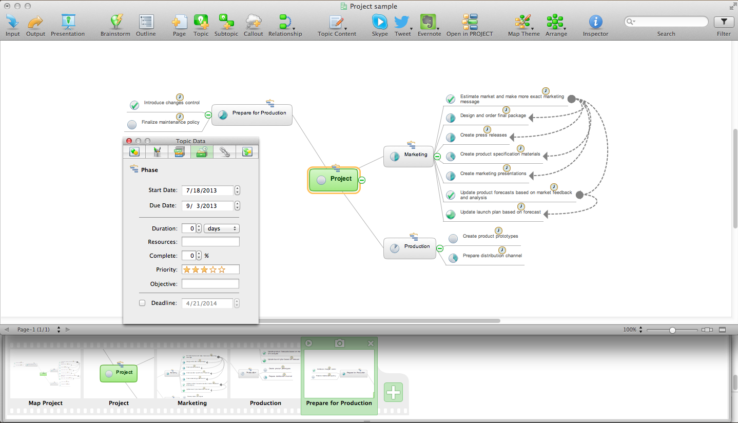 Mind Mapping Software *