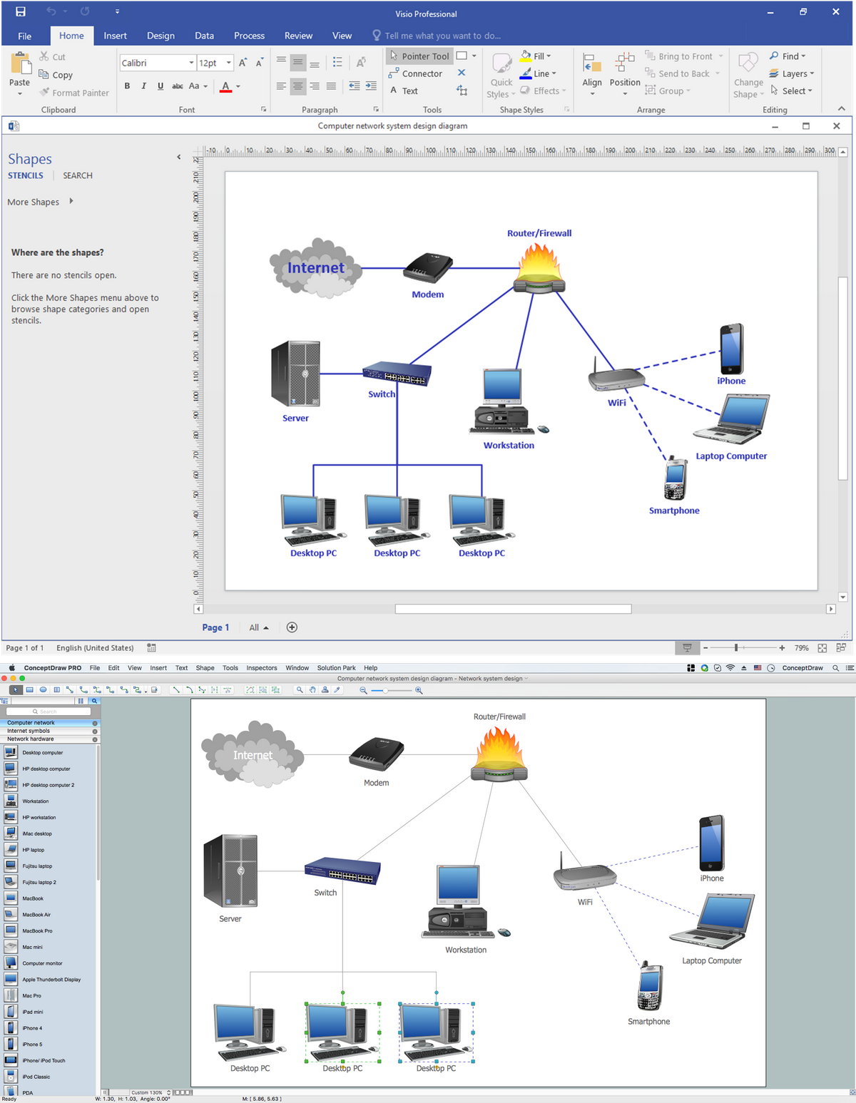 Visio alternative for network diagrams smartdraw diagrams Free open source flowchart software