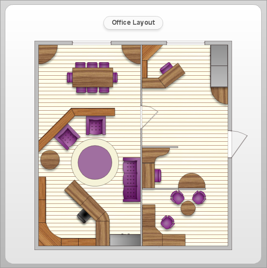 Office layout software create great looking office plan for Office layout plan design