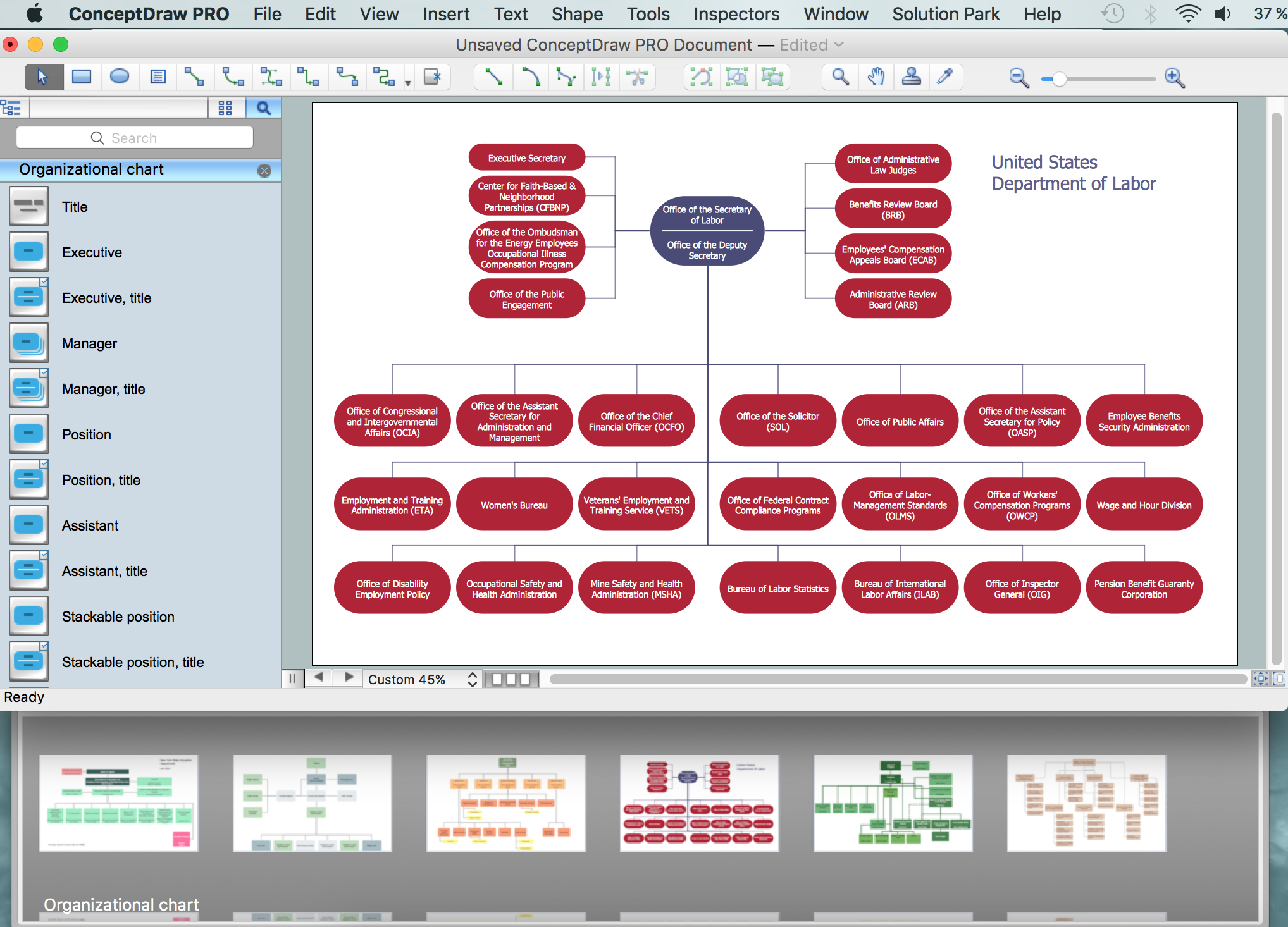 ConceptDraw DIAGRAM - Organizational chart software *
