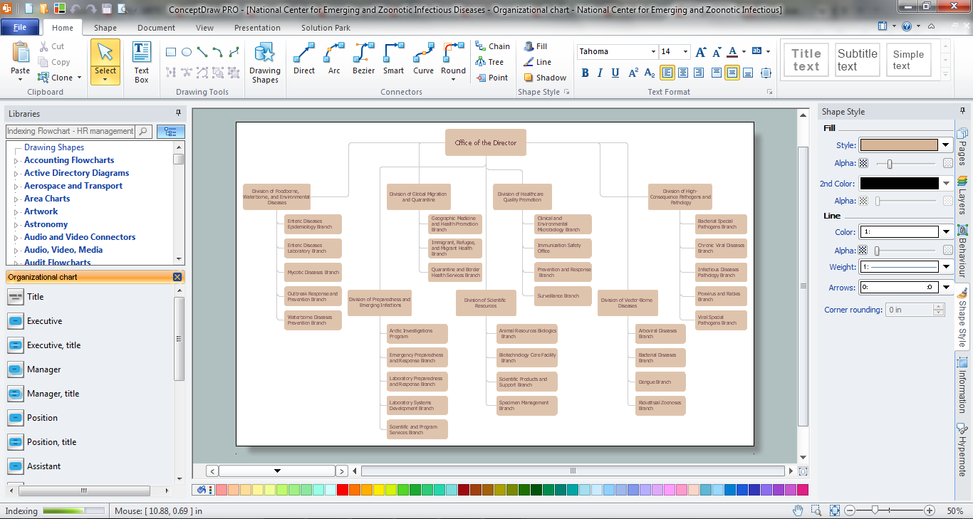 orgchart - Free Organizational Chart Template For Mac