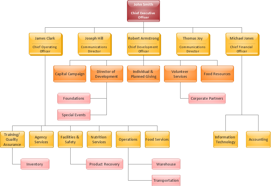 Organizational Charts Organization chart Foodbank – Business Organizational Chart