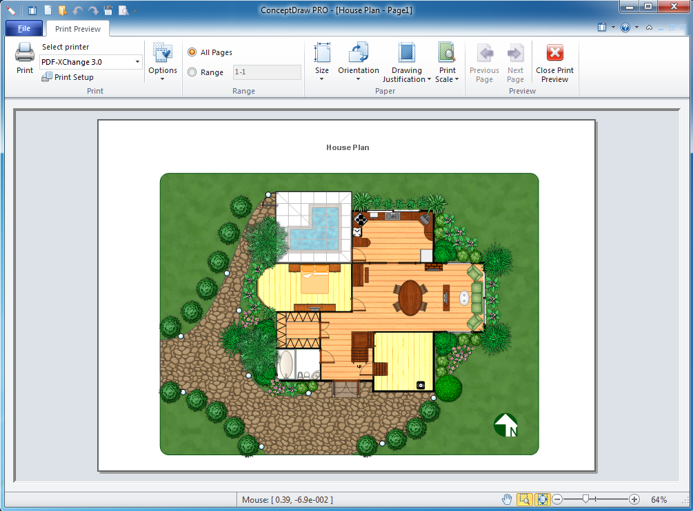 Landscape Architecture with ConceptDraw PRO Bubble diagrams in