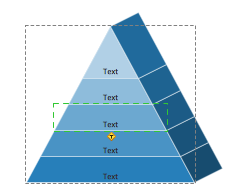 Pyramid diagram isometric object selection