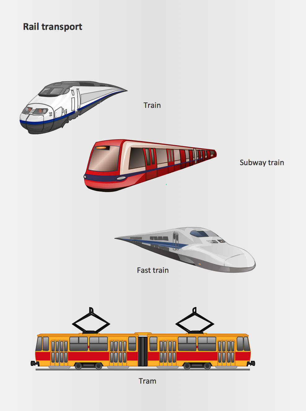 Rail Transport Design Element,  Rail Transport  clipart