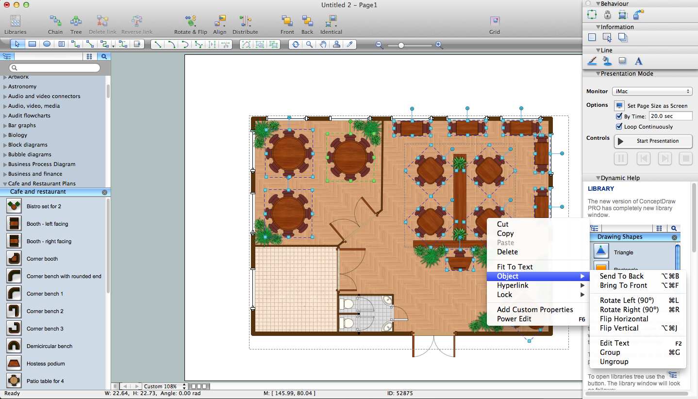 Great Restaurant Floor Plan Software For Mac OC And Windows