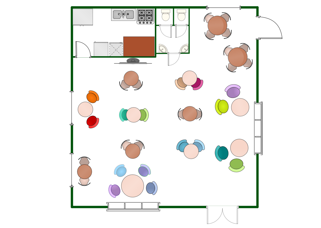 Small Restaurant Kitchen Floor Plan restaurant floor plans samples | how to create restaurant floor