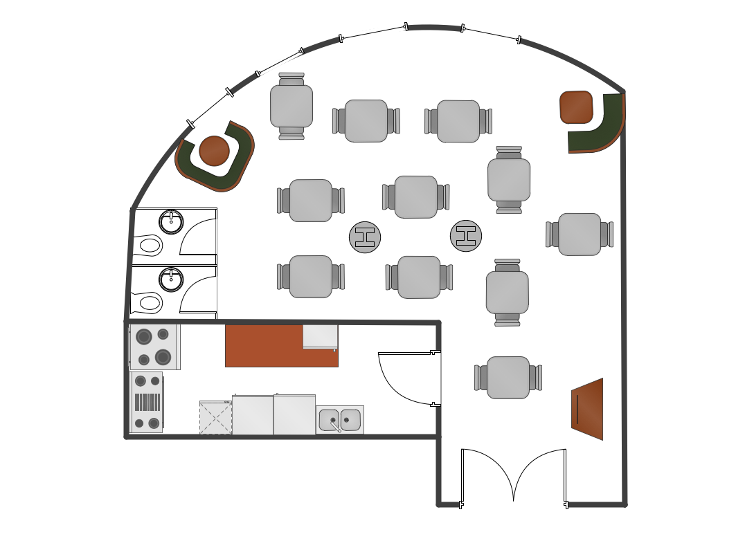 Caf floor plan example how to create restaurant floor for How to create a restaurant floor plan