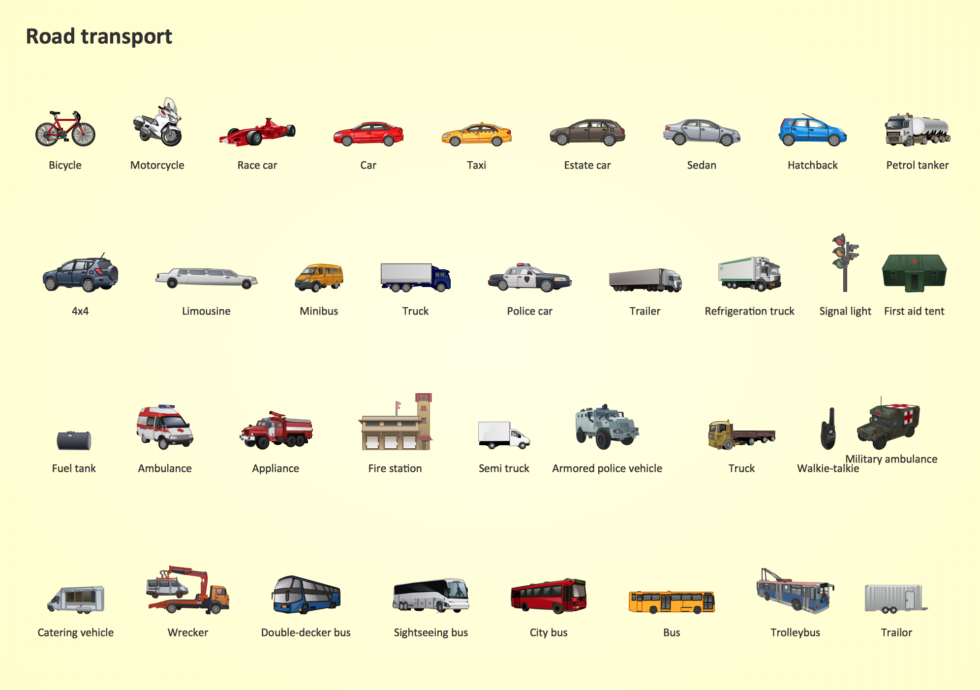 Road Transport Design Element,  Road Transport  clipart