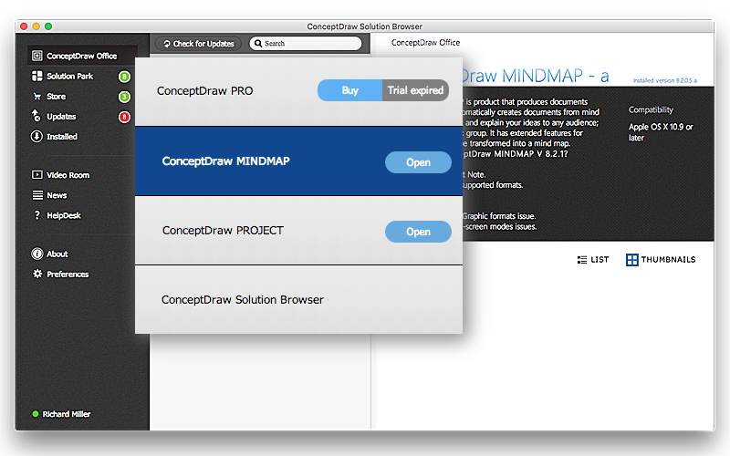 Free updates of ConceptDraw products