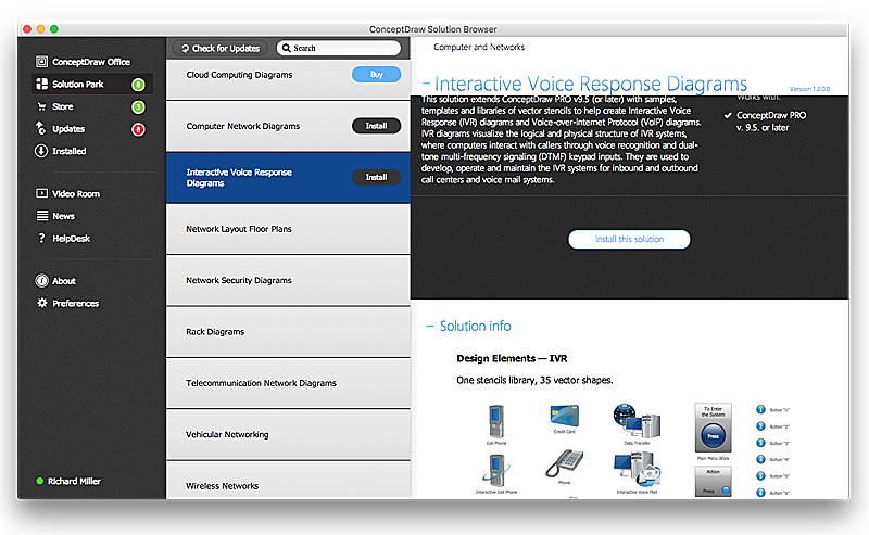 Download free update of ConceptDraw  solutions