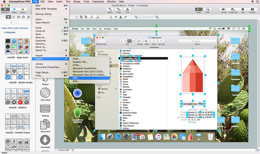 How to Design a Mockup of Apple macOS Sierra GUI *