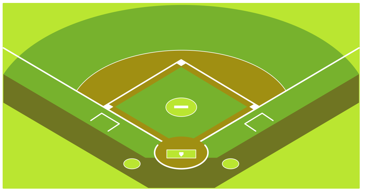 Baseball Diagram – Baseball Field – Corner View – Template