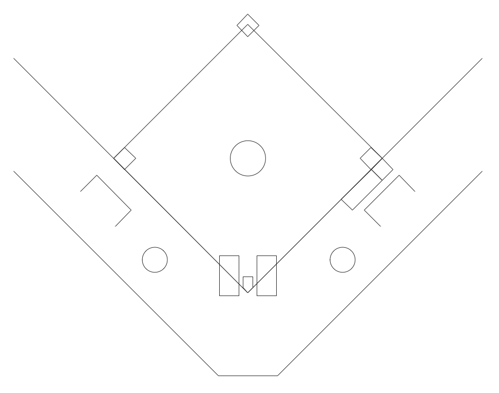 baseball diagram   baseball field   corner view   templatebaseball field schema