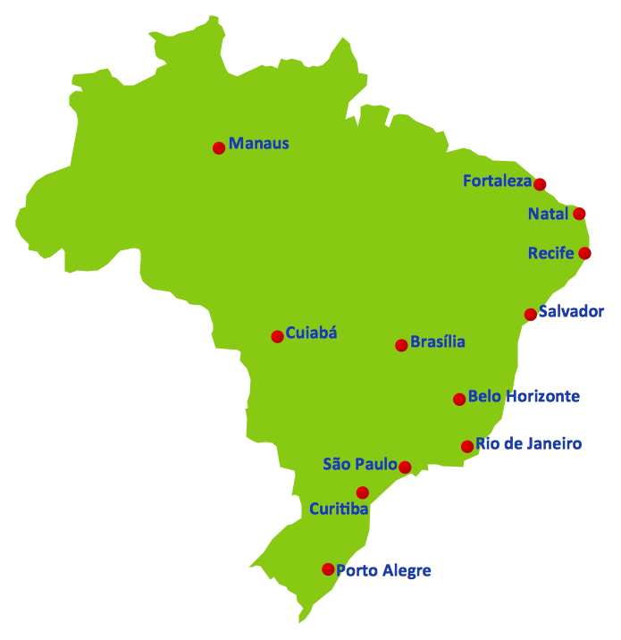 2014 fifa world cup brazil location map 2014 fifa world cup 2014 fifa world cup gumiabroncs Images