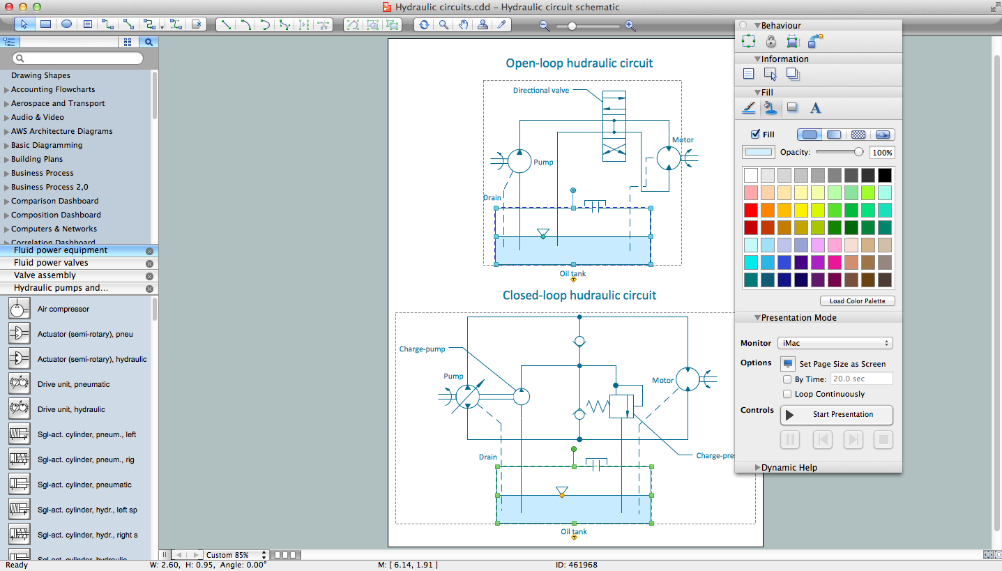 Block diagram mechanical program wiring diagram with Sketch software for windows